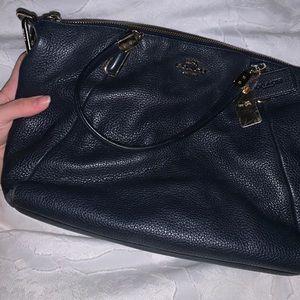 Navy Blue Coach Shoulder Bag